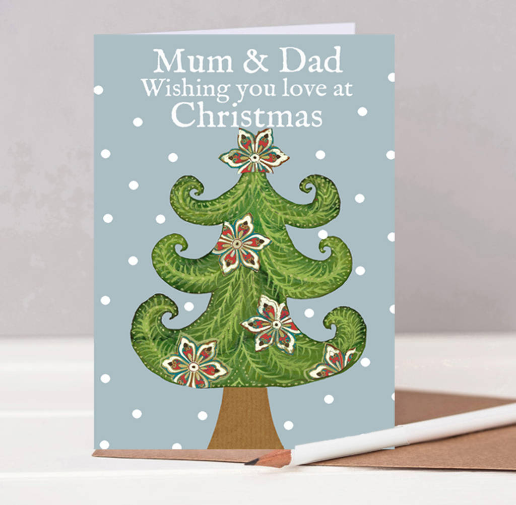 mum and dad christmas card by helena tyce designs. Black Bedroom Furniture Sets. Home Design Ideas