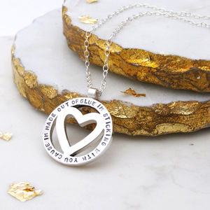 Personalised Heart Orbit Pendant - for your other half