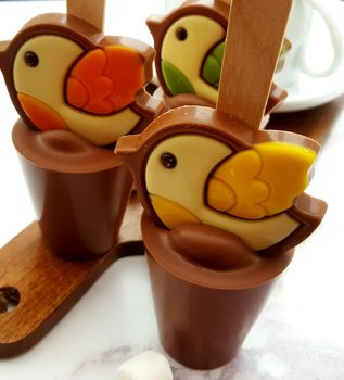 easter hot chocolate spoon