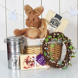 Adorable Bunny Hamper - cakes & sweet treats