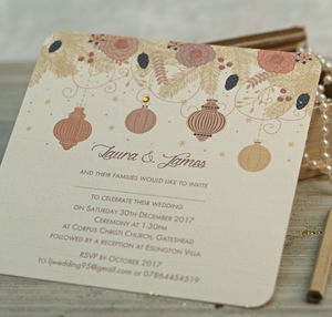 Christmas Winter Wedding Invitations - invitations