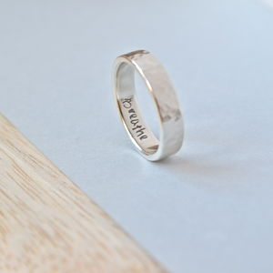 Sterling Silver Ring Personalised With Your Words - rings