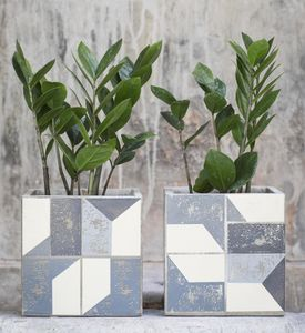 Graphic Plant Pot - scandi home decor