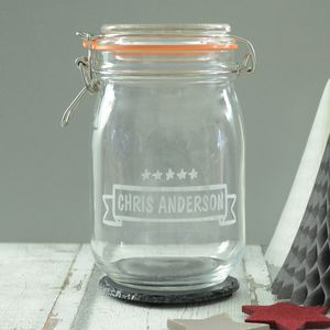 Kilner Jar Personalised For Him - kitchen