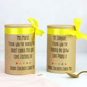 Personalised Thank You Teacher Cookie Mix - gifts for teachers