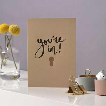 'You're In' New Home Letterpress Card