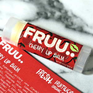 Organic And Vegan Cherry Lip Balm - delicious beauty
