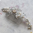 Juno Crystal And Freshwater Pearl Hair Comb
