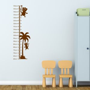 Monkeys Growth Chart Sticker - wall stickers