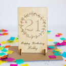 Personalised 21st Birthday Wooden Keepsake Card