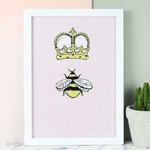 Queen Bee A4 Art Print