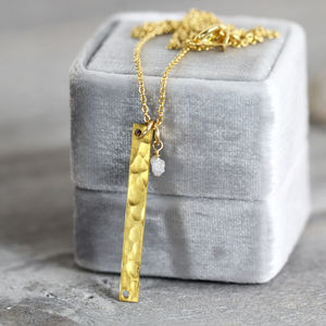Rough Diamond Bar Necklace