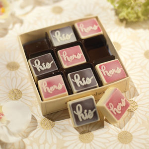 His And Hers Chocolates - flowers & chocolates with a twist