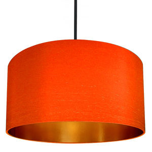 Gold Or Brushed Copper Lined Lampshade In Marmalade - bedroom