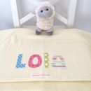 Personalised Baby Blanket - Lemon