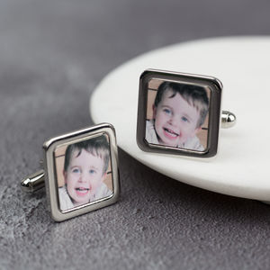 Personalised Square Photo Cufflinks - cufflinks