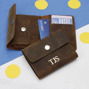 Leather Foldover Wallet - wallets & money clips