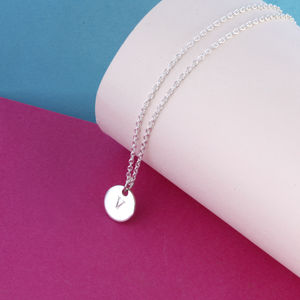Personalised Initial Disc Necklaces - new in jewellery