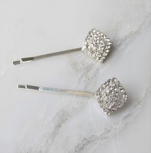 Olivia Crystal Diamond Hair Clips - hair accessories
