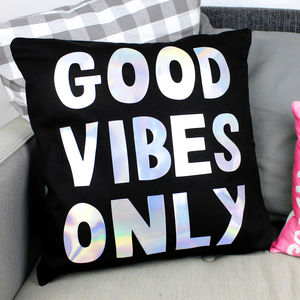 'Good Vibes Only' Cushion Cover - patterned cushions