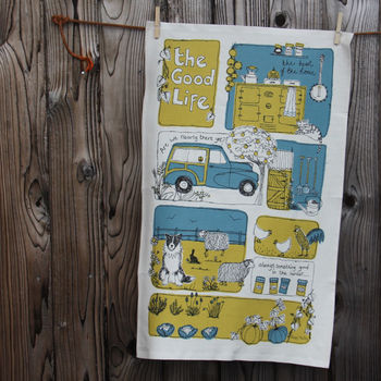 The Good Life Tea Towel