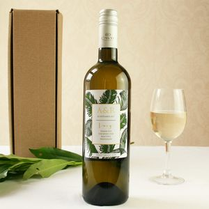 Personalised Botanical Bridesmaid's Gift Wine