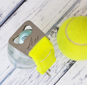 Personalised Tennis Ball Bottle Opener Keyring
