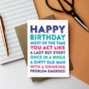 Happy Birthday Most Of The Time You Act Greetings Card