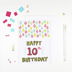 10th Birthday Card - children's birthday cards