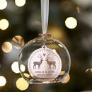 Engagement Personalised Christmas Bauble