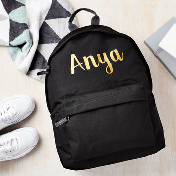 Personalised Name Backpack