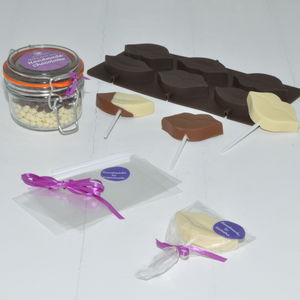 Chocolate Lips Lollipop Kit: Personalised - novelty chocolates
