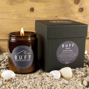Buff Body Boxed Natural Candle