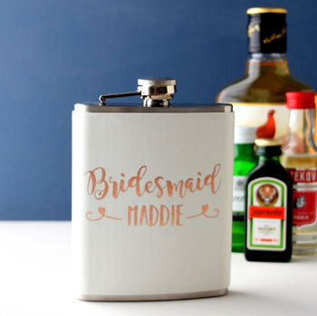 Personalised Bridal Party Hip Flask