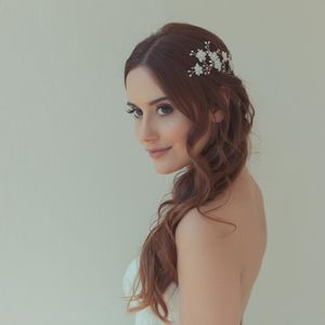 'Cherry Blossom' Crystal And Pearl Wedding Hair Pins - head pieces