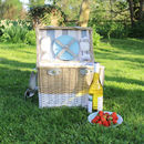 Large Family Wicker Picnic Basket