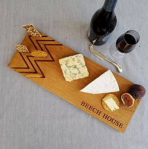 Engraved Oak Cheese And Cracker Board - gifts for the home