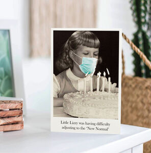 Funny Girl's Birthday Card. Lockdown