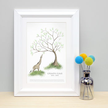 Giraffe Fingerprint Keepsake