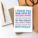 Happy Belated Birthday Who's Thinking Of You Now Card