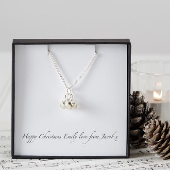 Personalised Jingle Bells Charm Necklace