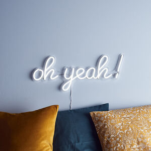 Oh Yeah! Neon Sign Wall Light