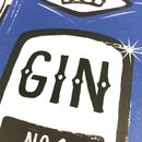 Blue Gin Art Print A4 Heavyweight Art Print