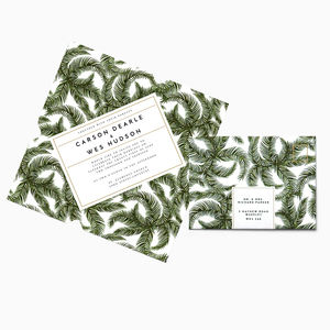 Tropical Palm Telegram Invitation Suite - wedding stationery