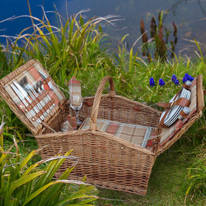 Autumn Tartan Barn Hamper For Four
