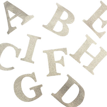 Gold Lame Iron On Letters 7cm And 9cm