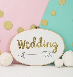 Wedding Sign Embroidery Hoop - spring styling