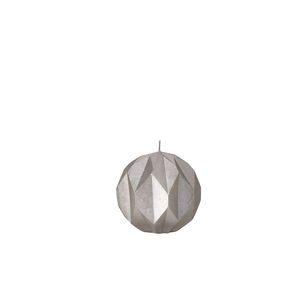 Silver Or Black Faceted Candle - christmas home