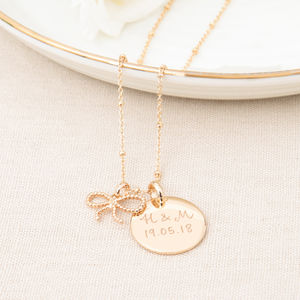 Personalised Tie The Knot Necklace - necklaces & pendants