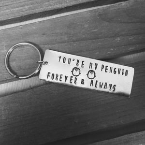 Penguin Love Keyring - mens